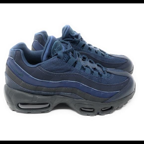 Nike Shoes Air Max 95 Am95 Squadron Blue Navy Black Dark Poshmark